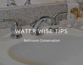 Water Wise Tips – Bathroom Conservation
