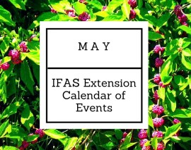 May 2016 IFAS Extension Calendar of Events