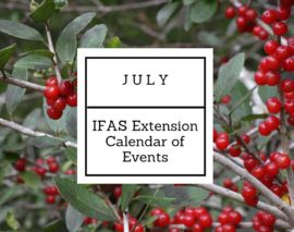 July 2016 IFAS Extension Calendar of Events