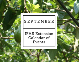 September 2016 IFAS Extension Calendar of Events