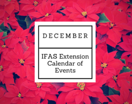 December 2016 IFAS Extension Calendar of Events