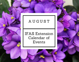August 2017 IFAS Extension Calendar of Events