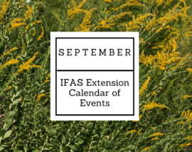 September 2017 IFAS Extension Calendar of Events