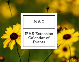 May 2018 IFAS Extension Calendar of Events