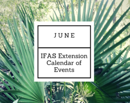 June 2018 IFAS Extension Calendar of Events